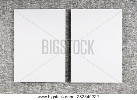 Blank Letterhead On Gray Background To Replace Your Design