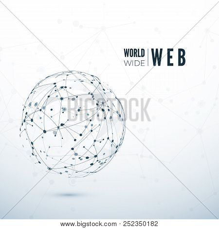 World Wide Web. Global Data Transfer Concept. Vector Illustration