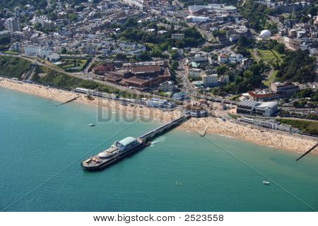 Aerial View Of Bournemouth Pier In Southern England