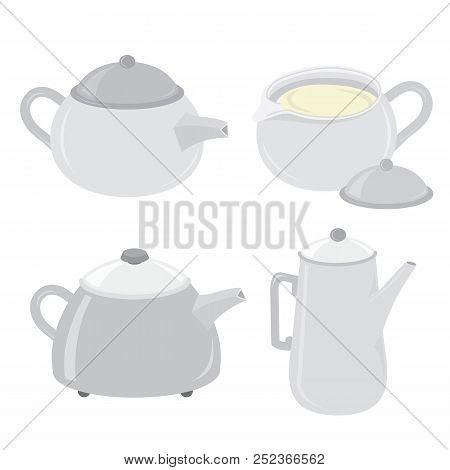 Kettle Teakettle Tea Pot Object Cartoon Vector