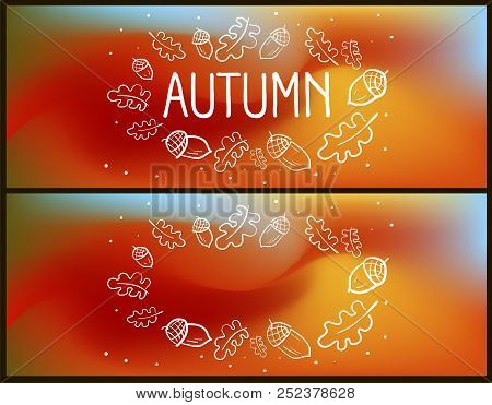 Trendy Cover Design For Facebook Autumn Vector Illustration Bright Wallpaper The Page
