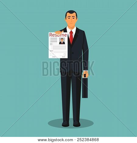 Resumes Hand Vector & Photo (Free Trial) | Bigstock