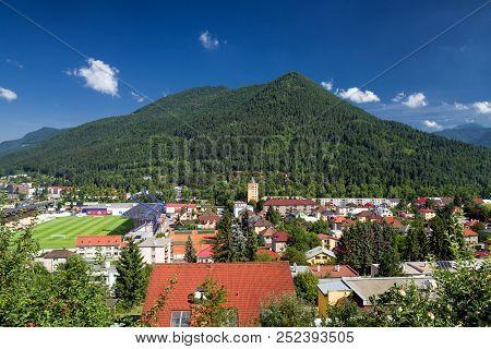 Ruzomberok, Slovakia - August 2: Hill Cebrat And Town Ruzomberok On August 2, 2018 In Ruzomberok