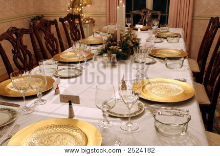 Festive Holiday Table