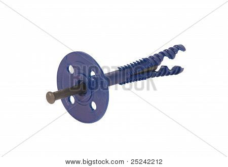 Heat-insulating plastic screw anchors