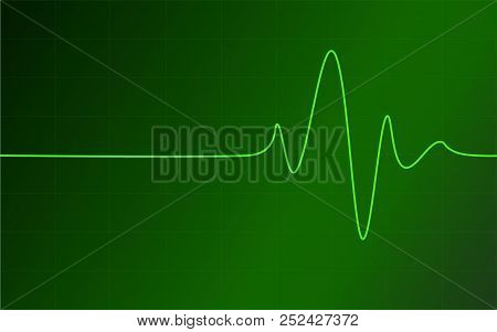 Green Pulse, Heart Beat, Cardio Monitor, Digital Health Concepts, Alive
