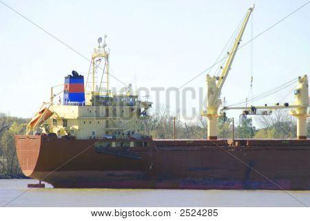 Ship On Mississippi River