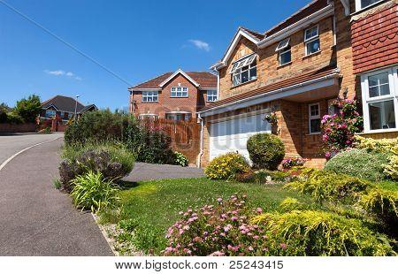 English house with garage, uk