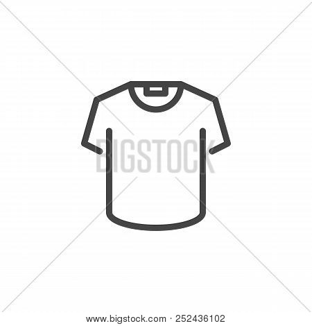 T-shirt Icon In Line Design. Button Or Sign For Online Store, Websites Or Mobile App Interfaces, Pro