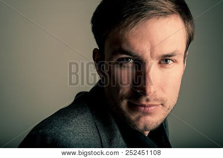 Portrait Of A Serious Successful Businessman. Age Of Forty Years.