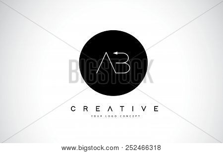Ct C T Logo Design With Black And White Creative Icon Text Letter Vector.