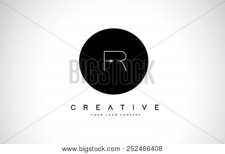 Fr F R Logo Design With Black And White Creative Icon Text Letter Vector.