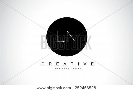 Ln L N Logo Design With Black And White Creative Icon Text Letter Vector.