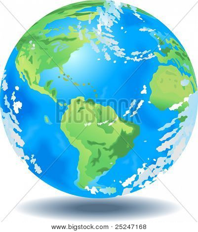 Vector Illustration of the planet Earth