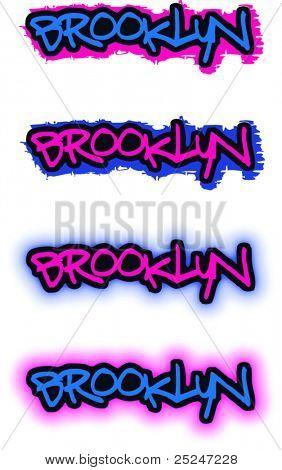 Brooklyn Graffiti Vector Image