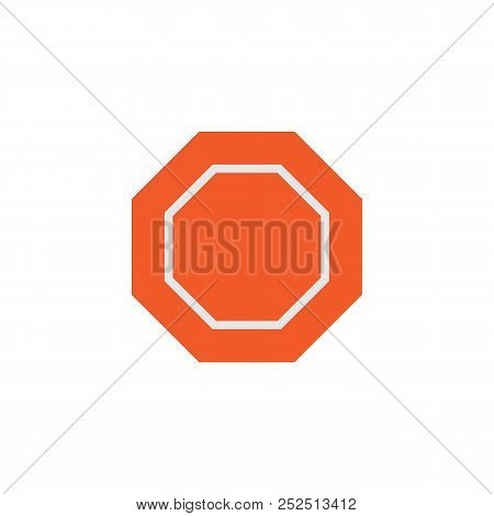 Stop Sign Flat Icon, Vector Sign, Colorful Pictogram Isolated On White. Traffic Road Sign Symbol, Lo