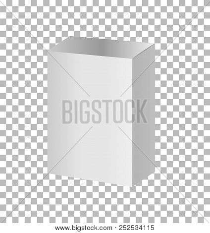 White Blank Cardboard Package Boxes Mockup. Realistic White Package Box. Blank Box Transparent On Wh