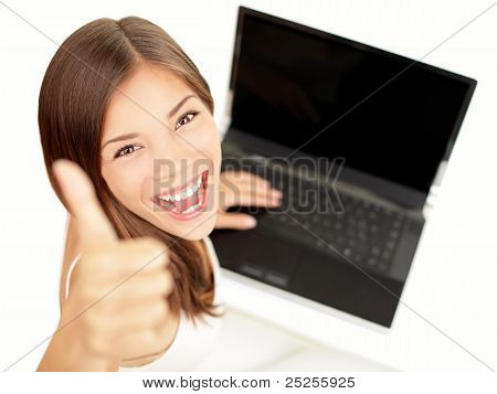 Laptop Woman Happy