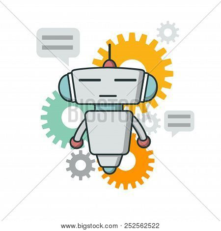 Cute Outline Robot.