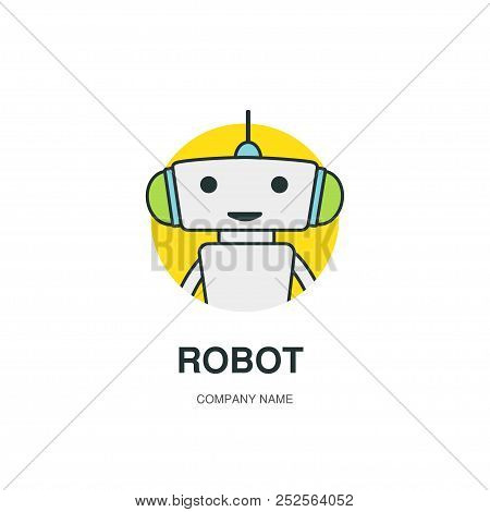 Cute Robot Logotype