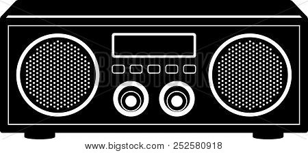 Illustration Of Radio Tuner. Classic Style Type. Perspective Vector