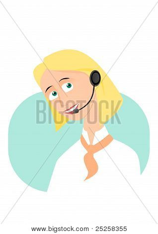 Beautiful call-center girl