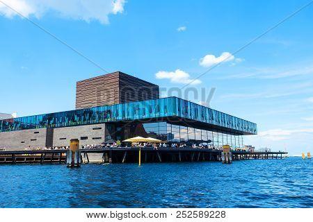 Copenhagen, Denmark - July 13, 2018. Beautiful Modern Architecture Of Copenhagen On The Bank Of The