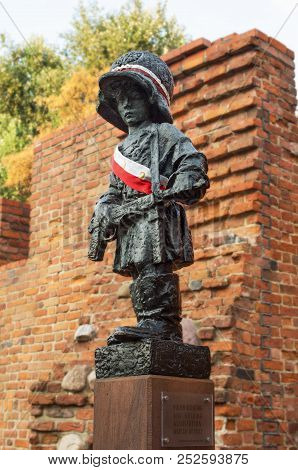 Warsaw, Poland, Europe - 10 September 2016. Monument To The Little Insurgent. A Monument To The Chil