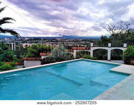 View Over Terrace With Pool Near San Jose