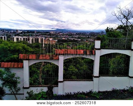 View Over The Village Of Escazu Near San Jose