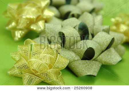 Golden Christmas Bows