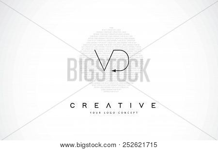 Vd V D Logo Design With Black And White Creative Icon Text Letter Vector.