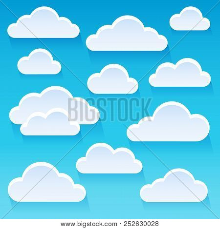 Stylized Clouds Theme Image 1 - Eps10 Vector Picture Illustration.