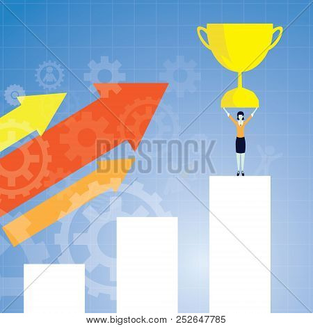 Vector Illustration. Success In Business