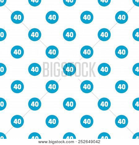 Forty Figure Pattern Seamless In Flat Style For Any Design