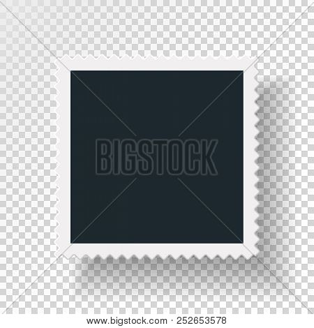 Rotational Concept Reasirtic With Retro Photo Frame, Double Isolated Object On Transparent Backgroun