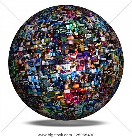 Multimedia Image Wall Sphere