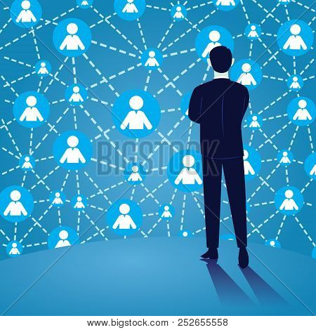 Vector Illustration. Connection In Business Concept