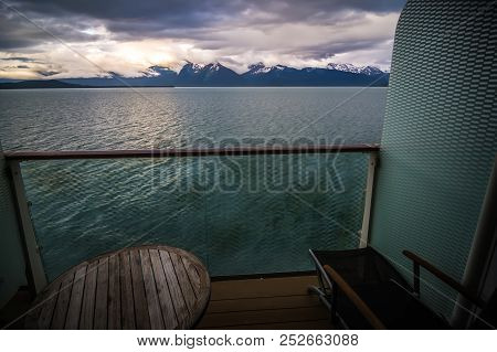 On A Cruise Ship Deck To Alaska