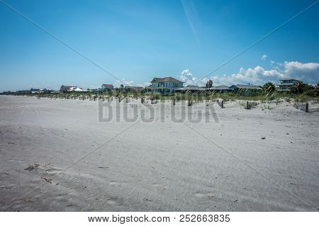 Folly Beach Charleston South Carolina On Atlantic Ocean