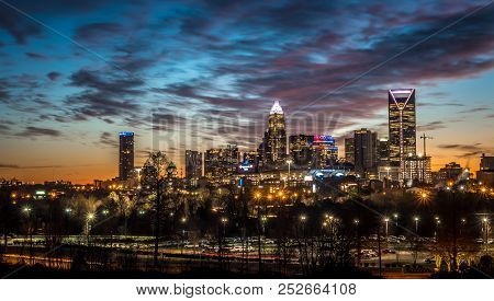 An Early Morning In Charlotte North Carolina