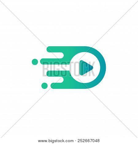 Media Play Logo Vector Simple Modern Concept ,media Logo Sign,play Logo Icon,player Logo Icon. Multi