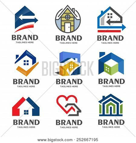 Creative Real Estate Logo, Property And Construction Logo Design Vector, Colorful Homes Logo Concept