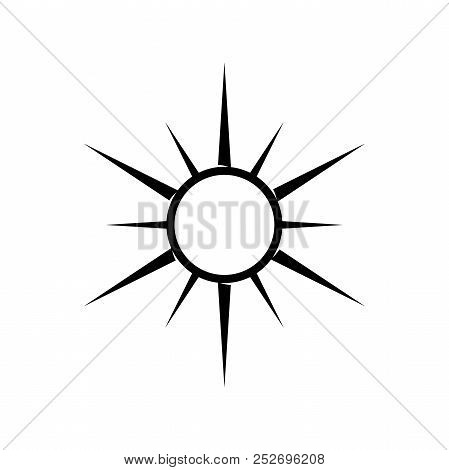 Silhouette Compass Wind Rose Element Design With Circle. Simple Compass Vector Design. Vector Illust