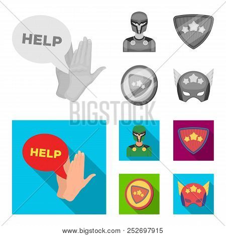 Man, Mask, Cloak, And Other Web Icon In Monochrome, Flat Style.costume, Superman, Superforce, Icons