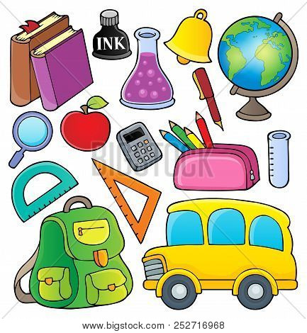 School Related Objects Collection 1 - Eps10 Vector Picture Illustration.