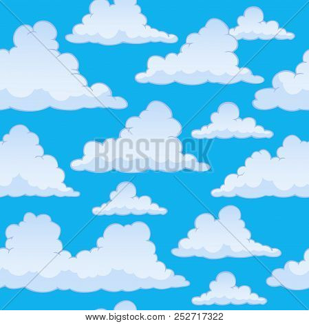 Stylized Clouds Seamless Background 2 - Eps10 Vector Picture Illustration.