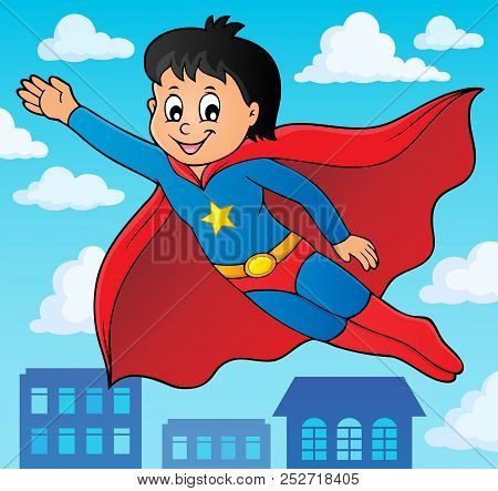 Super Hero Boy Theme Image 2 - Eps10 Vector Picture Illustration.