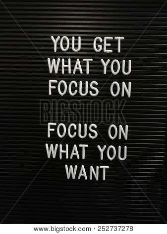 Motivational quotes on focus