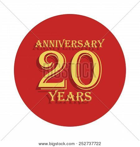 20 Years Anniversary Sign. Element Of Anniversary Sign. Premium Quality Graphic Design Icon In Badge